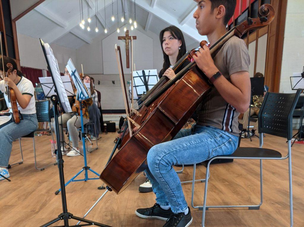 Cellists at St Joseph's College
